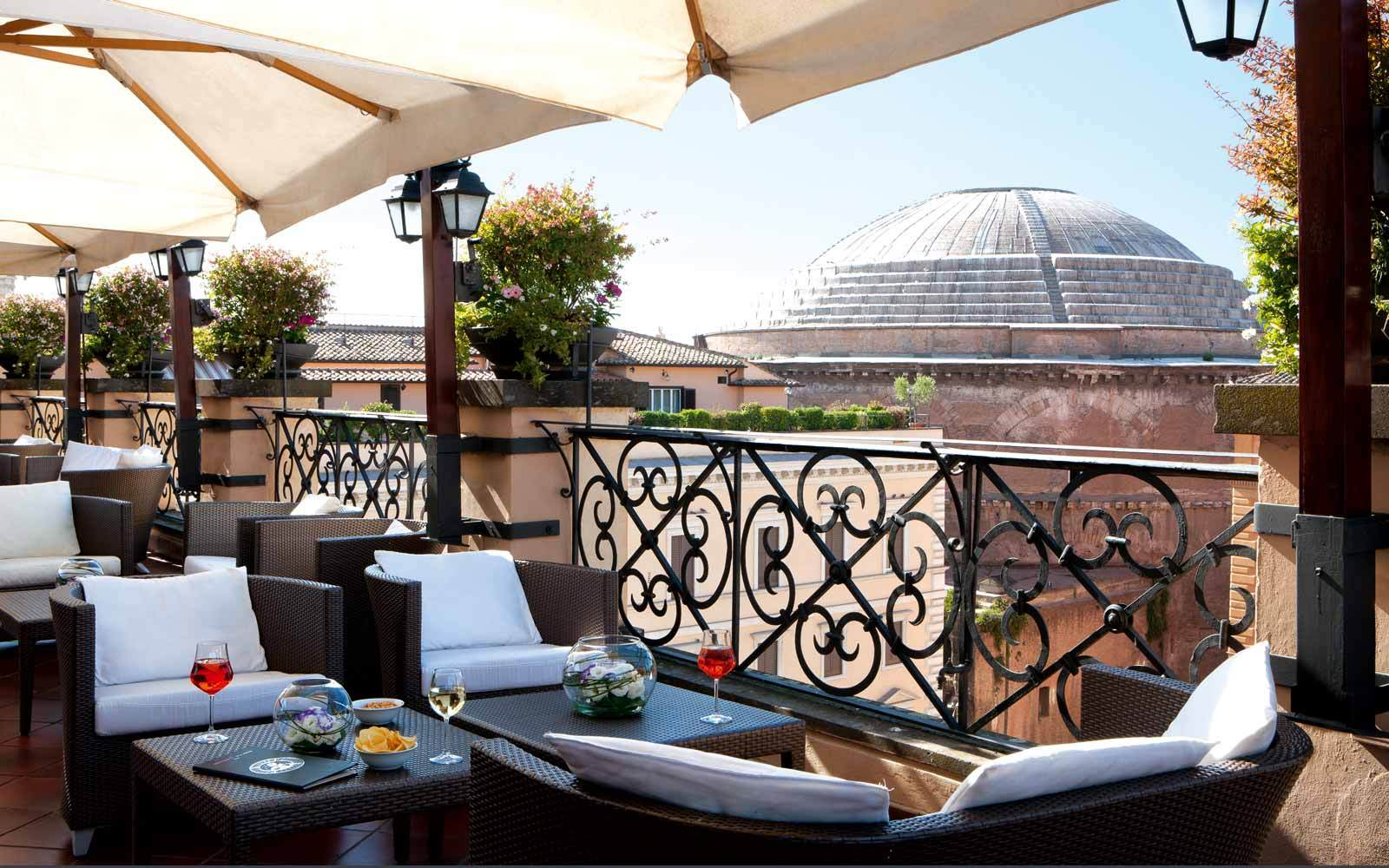 Minerva Roof Garden Restaurant In Rome